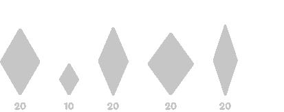Rombo Penrose 20 ancho
