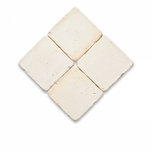 baldosa cuadrada de 20 cms de barro cocido en color blanco