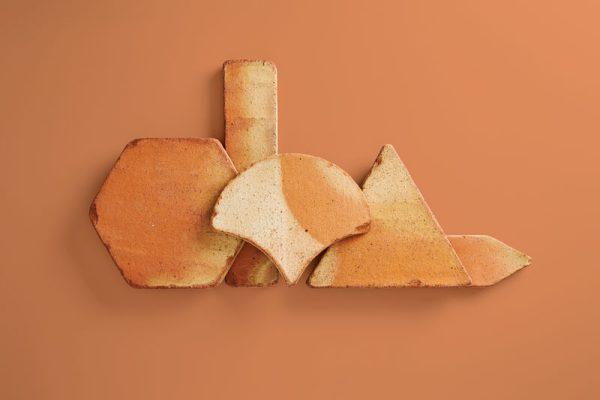 baldosas de barro cocido en diferentes formatos y en tonalidad rojiza