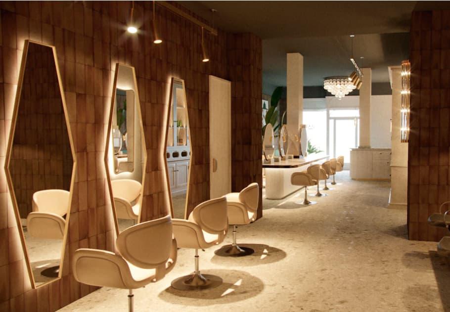 Fotografía de los sillones del salón de peluquería