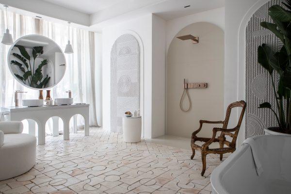 baldosas blancas para baño